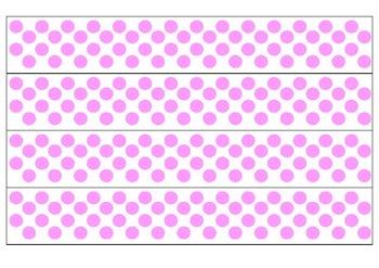 White and Pink Polka Dot Borders