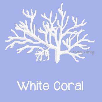 WhiteCoral, style 1 on Transparent Background Printable Tr