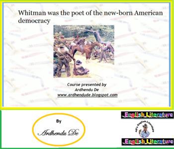 Whitman's Modernity: American Spokesman for Democratic Literature