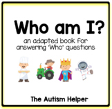 Who Am I? Adapted Book for Children with Autism