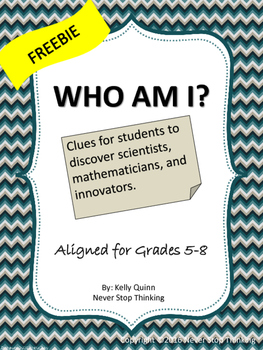 Who Am I? Clues leading to a famous scientist, mathematici