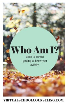 Who Am I - Getting to know you activity