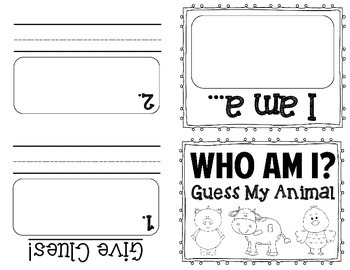 Who Am I? Guess the Animal Activity