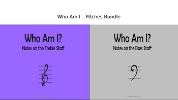 Who Am I - Pitches Bundle