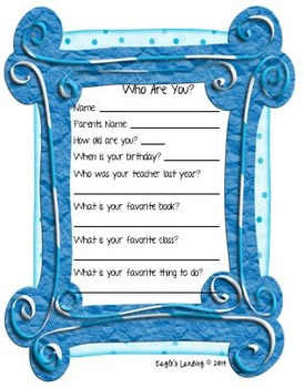 Who Are You?- Getting to know your students