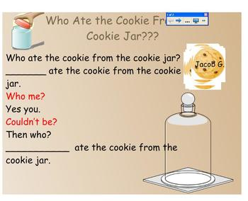Who Ate the Cookie? Smartboard Rhyme Game