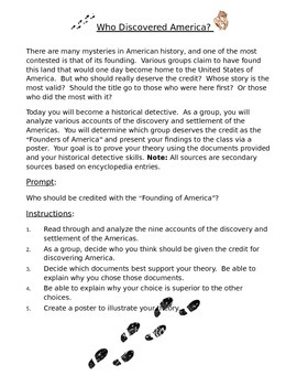 Who Discovered America? Historical Inquiry Activity