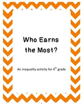 Who Earns the Most? - Ordering Numbers