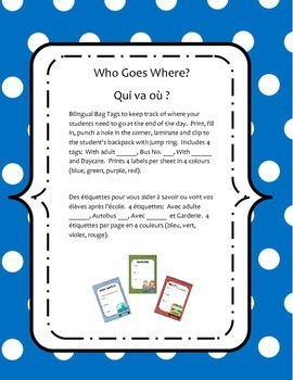 Who Goes Where Bag Tags / Etiquettes Qui va où ?
