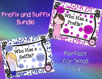 Who Has a Prefix?/ Who Has a Suffix? Bundle