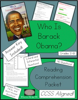 Who Is Barack Obama? - Reading Comprehension Packet