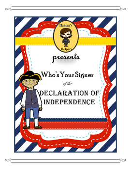 Who Is Your Signer of the Declaration of Independence