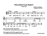 Who Killed Cock Robin?  Sheet Music and Lessons