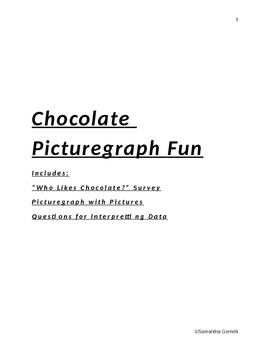 Who Likes Chocolate? Picturegraph Activity- Picturegraph a
