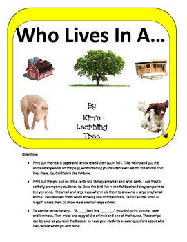 Who Lives In A....  (Animals)