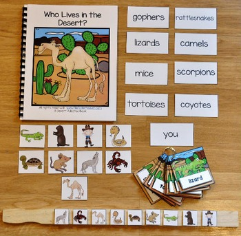 Desert Adapted Book and Vocabulary Activities