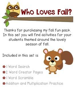 Who Loves Fall? -a mini set