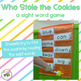 Who Stole the Cookies?  {A Sight Word Game Center}