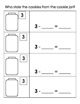Who Stole the Cookies? Decomposing Numbers (Bilingual - SPANISH)