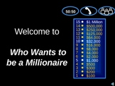 Who Wants to be a Millionaire Math Game