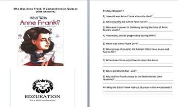 Who Was Anne Frank:Ann Abramson Comprehension Quizzes (nin