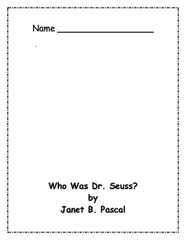 Who Was Dr. Seuss? Comprehension Packet
