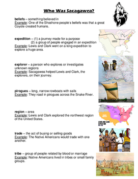 Who Was Sacagawea? vocabulary