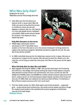 Who Was Sally Ride? - Informational Text Test Prep