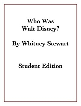 Who Was Walt Disney? Student Edition - PDF