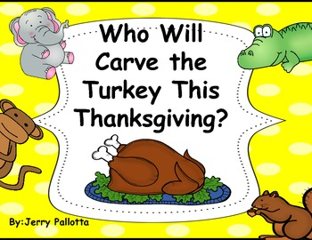 """""""Who Will Carve the Turkey"""" Class Book Cover-Freebie"""