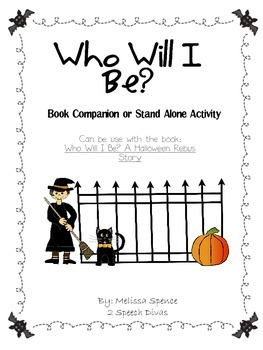 Who Will I Be? A Halloween Costume Activity set
