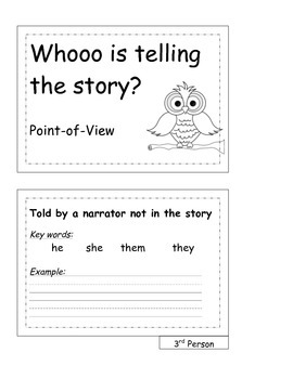 Who Wrote the Story?  Point-of-View