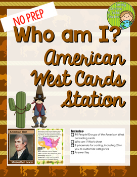 Who am I? American West Trading Card & Sorting set