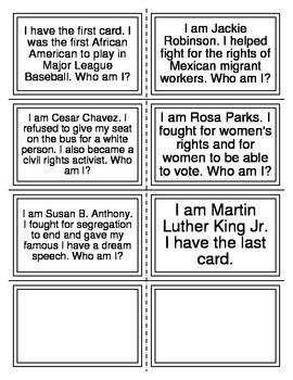 Who am I? Game-Social Studies #2