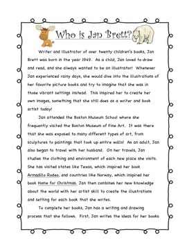 Who is Jan Brett? Text and Questions for Annotations