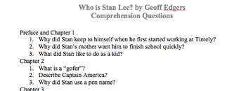 Who is Stan Lee? Comprehension Questions