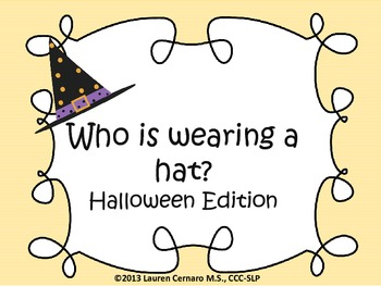 Who is Wearing a Hat? (Halloween Edition)