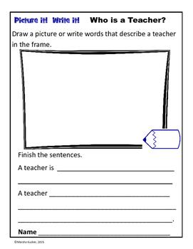 Community Helpers:   Who is a Teacher?