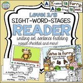 Guided Reading: Level B Animal Sight Word Reader and Activities!