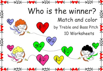 Who is the winner? Match and color by Treble and Bass Pitc