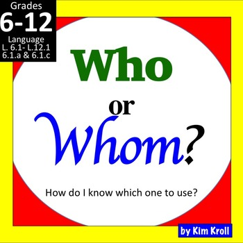 Who or Whom? (The WHO -HE!! Method)