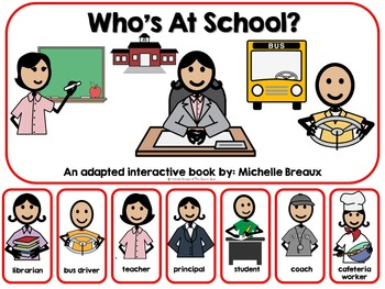 Who's At School?- A Back to School Adapted Book {SPED, Ear