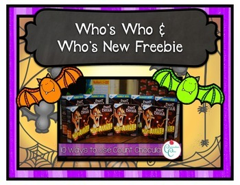 Who's Who and Who's New Blog Post Freebie