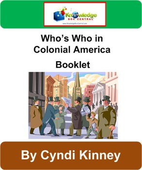 Who's Who in Colonial America Booklet