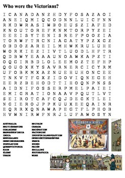 Who were the Victorians Word Search
