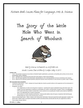 Whodunit Mystery Picture Book Lesson Plans - Language Arts