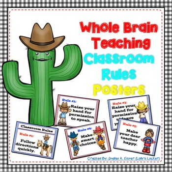 Whole Brain Classroom Expectation Posters Western Theme