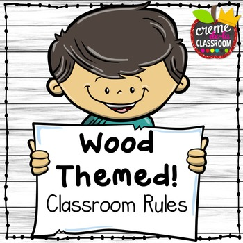Wood Themed Classroom Rule Posters