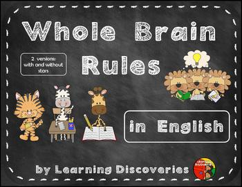 Whole Brain Rules in English on Chalkboards with Animals