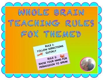 Whole Brain Teaching 5 Rules Fox Themed